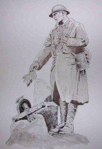 aquarelle et stylo plume : Aubusson dans aquarelle 8-206x300