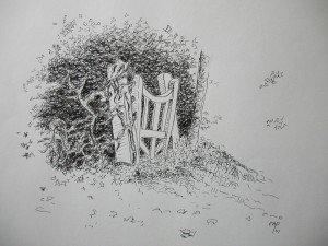 stylo plume : vieille porte dans paysage DSCN4983-300x225