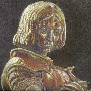 pastel : portrait Jeanne d'Arc dans pastel pastel-portrait-Jeanne-dArc-300x300