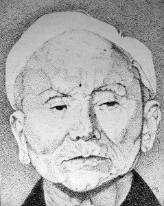 stylo plume portrait : Funakoshi dans portraits stylo-plume-portrait-Funakoshi-239x300