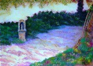 pastel villerville le chemin du calvaire dans pastel pastel-villerville-le-chemin-du-calvaire-300x212