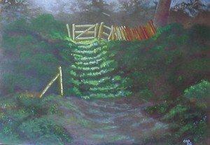 pastel : villerville l'escalier du parc dans pastel pastel-villerville-lescalier-du-parc-300x207
