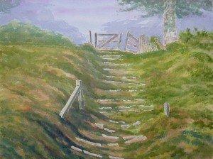 aquarelle : l'escalier du parc dans aquarelle aquarelle-lescalier-du-parc-300x224