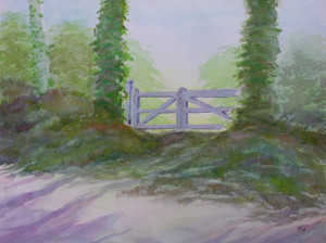 aquarelle : villerville la barrière 2 dans aquarelle aquarelle-villerville-la-barrière-2-300x224