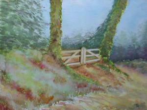 aquarelle : villerville la barrière dans aquarelle aquarelle-villerville-la-barrière-300x224