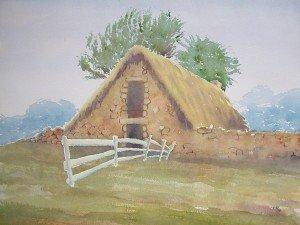 aquarelle : vieille grange dans aquarelle aquarelle-vieille-grange-300x225