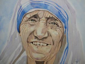 aquarelle mère Thérésa dans aquarelle mère-Thérésa-300x225