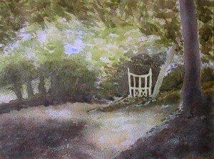 aquarelle sous bois dans aquarelle aquarelle-sous-bois-300x224