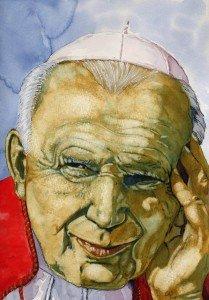 aquarelle : Jean Paul II dans aquarelle j.p-2-209x300