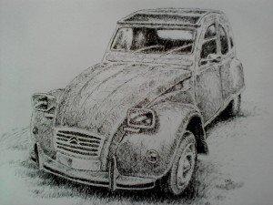 stylo plume voiture 2 cv